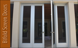 Custom Bifold Screen Doors