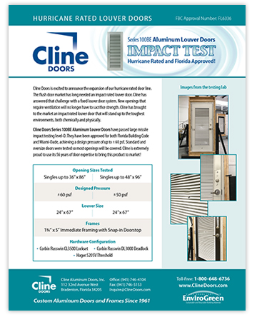 Cline Doors - Louver Door Impact Test